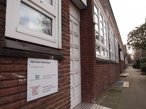 Eingang zur Begegnungstätte Griegstraße 110a in Bahrenfeld