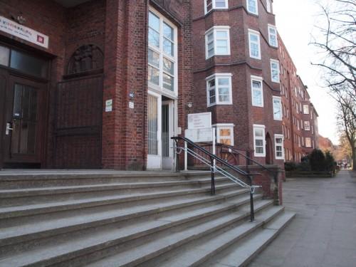 Eingang zur Begegnungsstätte Borgfelde in der Bethesdastraße 40